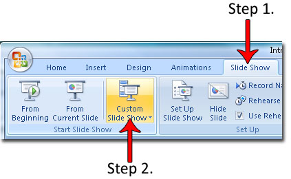 create a custom show in powerpoint 2007 powerpoint 2007 hints